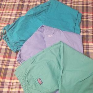 NWOT Cherokee Blue Scrub Pant Bundle